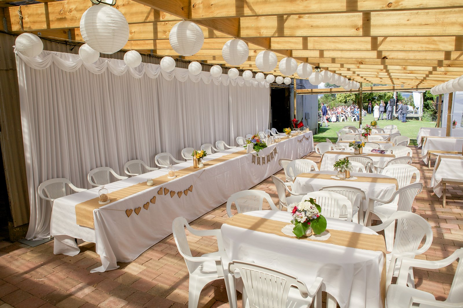 Indoor or outdoor seating arrangements